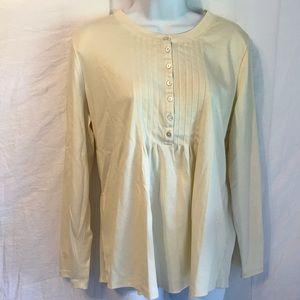 L.L. Bean Supima cotton long sleeve tunic top